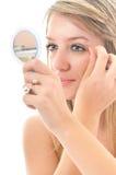 Oog - brow schoonheidsbehandeling royalty-vrije stock foto