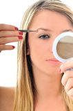 Oog - brow schoonheidsbehandeling royalty-vrije stock foto's