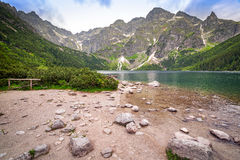 Oog van het Overzeese meer in Tatra-bergen Royalty-vrije Stock Fotografie