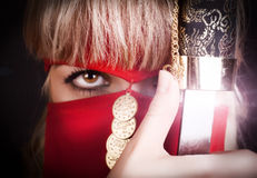 Oog van ninja royalty-vrije stock afbeeldingen