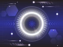 Oog van toekomstige technologie abstracte achtergrond royalty-vrije illustratie