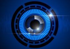 Oogappel blauwe technologie Royalty-vrije Stock Afbeelding