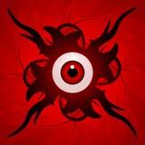 Oogappel met tentakels royalty-vrije illustratie