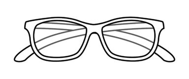 Oogglazen geïsoleerd pictogram stock illustratie