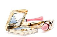 Oogschaduw, de lipgloss van lippenstiftANG Royalty-vrije Stock Afbeelding