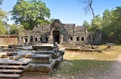 Oogst de 12de Eeuw van Preahkhan temple in Angkor Wat, Siem, Kambodja Royalty-vrije Stock Afbeelding