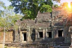 Oogst de 12de Eeuw van Preahkhan temple in Angkor Wat, Siem, Kambodja royalty-vrije stock fotografie