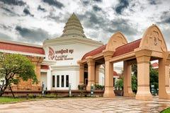 Oogst het Angkor Nationale Museum in Siem, Kambodja stock fotografie
