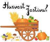 Oogstfestival Oogstvruchten en groenten Autumn Collection van elementen voor uw ontwerp Royalty-vrije Stock Foto's