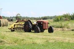 Oogsttijd op Landbouwbedrijf stock foto
