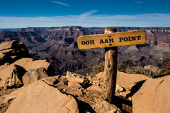 Ooh Aah punkt Grand Canyon Arkivbilder
