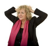 Ooh no! gesture of bestaged lady Royalty Free Stock Photo