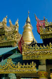 OoHminThoneSel Pagoda. Myanmar. Golden dome of the old temple. OoHminThoneSel Pagoda. Myanmar Royalty Free Stock Photo