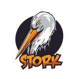Ooievaar Logo Vector Stock Foto