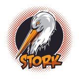 Ooievaar Logo Vector Royalty-vrije Stock Foto's
