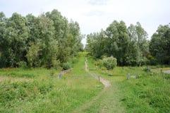 Ooijpolder cerca de Nimega en los Países Bajos Foto de archivo libre de regalías