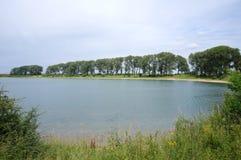 Ooijpolder nära Nijmegen i Nederländerna Arkivbilder