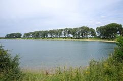 Ooijpolder vicino a Nimega nei Paesi Bassi Immagini Stock
