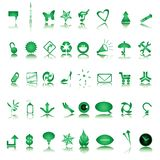 Ooit groene pictogrammeninzameling Royalty-vrije Stock Afbeelding