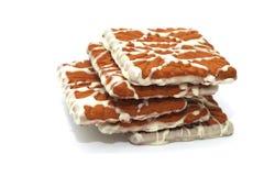 ?ookies met witte chocolade Royalty-vrije Stock Foto