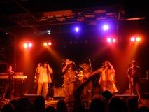 Ookla il Moc che canta sulla fase, dancing della folla Fotografie Stock Libere da Diritti