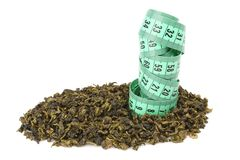 Oolong茶和米 免版税库存照片