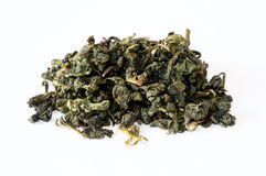 Oolong green chinese tea. On white Royalty Free Stock Photos
