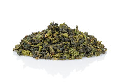 Oolong green tea heap Royalty Free Stock Photo