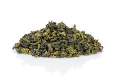 Oolong green tea heap Royalty Free Stock Photo