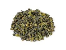 Oolong green tea heap Stock Images