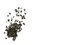 Oolong green tea isolated on white background Royalty Free Stock Images