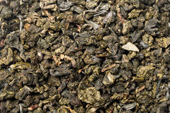 Oolong tea. Close up oolong tea background Royalty Free Stock Photos