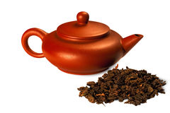 Oolong tea Dongding and teapot Royalty Free Stock Photo