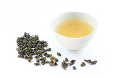 Oolong tea. With dried tea leaves Royalty Free Stock Photos