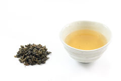 Oolong tea. With dried tea leaves Stock Photos