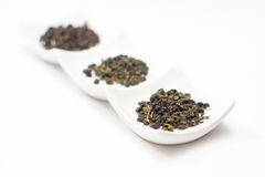Oolong tea and gyokuro tea Stock Photography