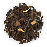 Oolong tea Orange. Blend raw isolated on pure white Royalty Free Stock Photos