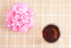 Oolong tea and peony Royalty Free Stock Photos