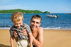 Oom & neef. stock fotografie