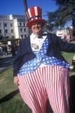 Oom Sam in Doo Dah Parade, Pasadena Californië stock fotografie