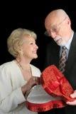 ¡Oooooh - chocolate de las tarjetas del día de San Valentín! Foto de archivo