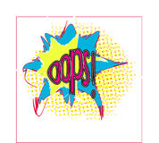 Ooop!Comic sound effect in pop art style Royalty Free Stock Images