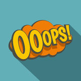 OOOPS,可笑的文本讲话泡影象,平的样式 免版税库存图片