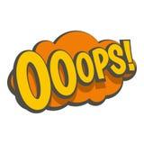 OOOPS,可笑的文本讲话泡影象 库存照片