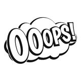 OOOPS, значок взрыва комика, простой стиль Стоковое фото RF