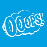 OOOPS, comic book explosion icon white Royalty Free Stock Photography