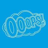 OOOPS, comic text sound effect icon, outline style Royalty Free Stock Images