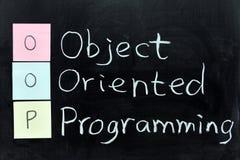 OOP, объектно-ориентированное программирование Стоковое фото RF