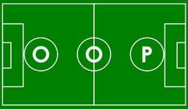 Oop campo de fútbol Imagen de archivo
