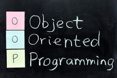 OOP, Object Oriented Programming Royalty Free Stock Photo